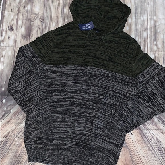 American Rag Other - Men's pullover marbled sweater with hood